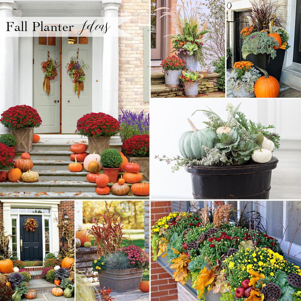 Celebrate fall with these beautiful autumn planter decor Beautiful fall front porches