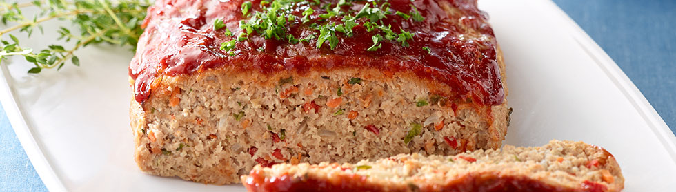 Zucchini Meatloaf with Apricot Glaze