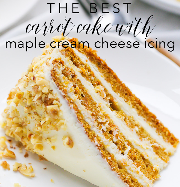 The Best Carrot Cake Maple Cream Cheese Icing